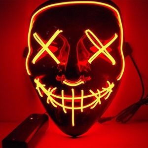 Holiday - Halloween LED Mask Cosplay Wire Lightup Party